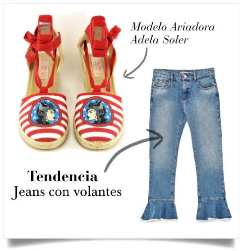 Jeans con volantes